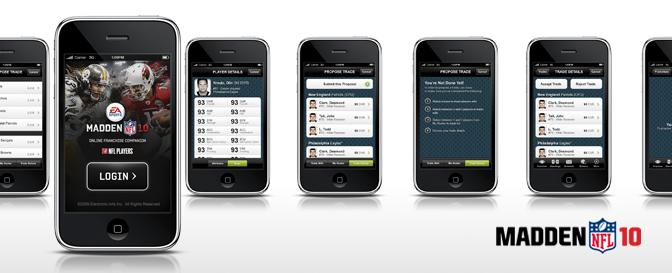 Madden 10 Online Franchise iPhone App